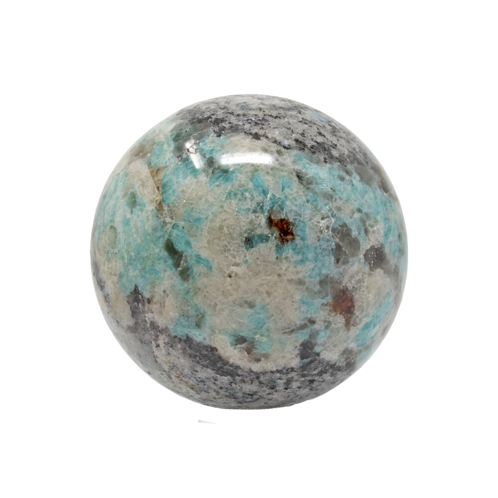 Amazonite Sphere On Ring Stand