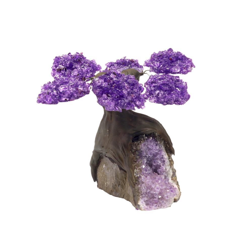 Amethyst Gemstone Tree With Amethyst Base