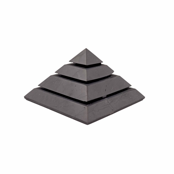 Closeup photo of Shungite Pyramid Medium Sakara