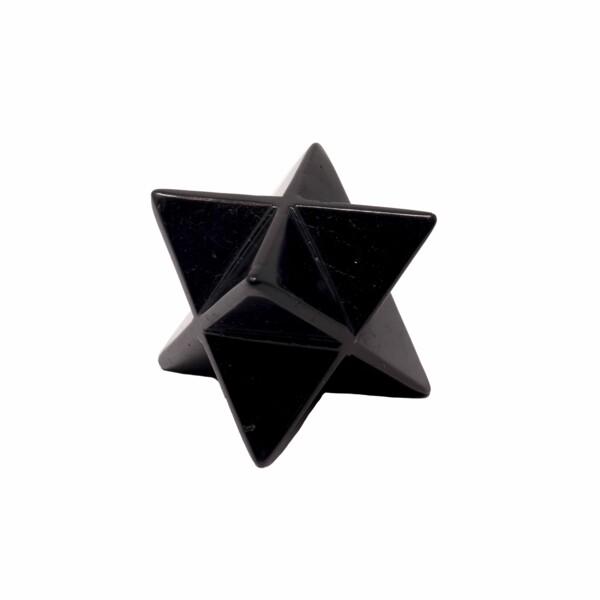 Closeup photo of Mercaba Shungite Star (aka Merkaba)