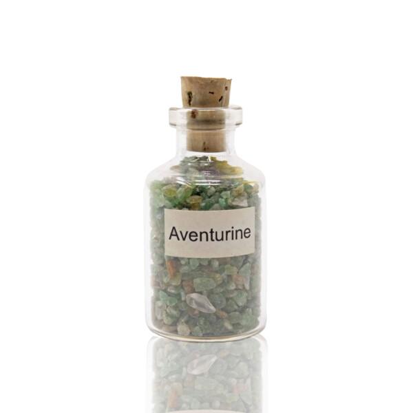 Closeup photo of Individual Gemstone Bottle -Aventurine