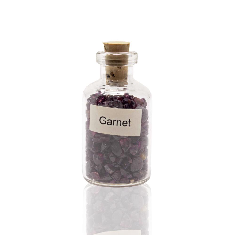 Individual Gemstone Bottle -Garnet