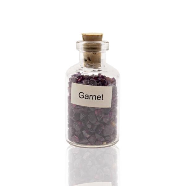 Closeup photo of Individual Gemstone Bottle -Garnet