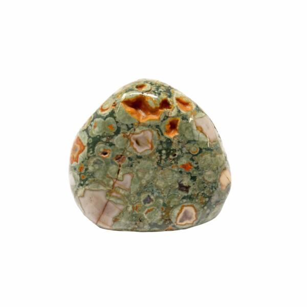 Closeup photo of Green Rhyolite Jasper Therapy Stone