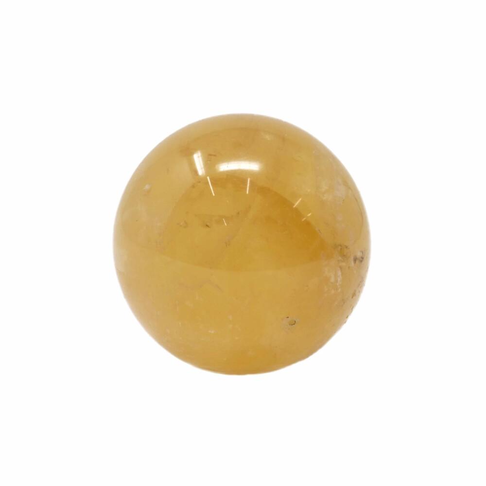 Golden Calcite Sphere - Flecks Of Dendrite
