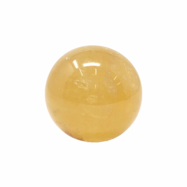 Closeup photo of Golden Calcite Sphere