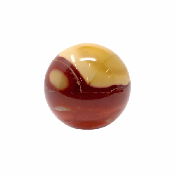 Closeup photo of Mookaite Spheres - Red And Tan