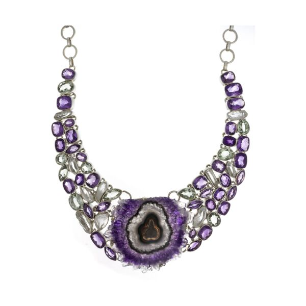 Closeup photo of Amethyst Stalactite Necklace