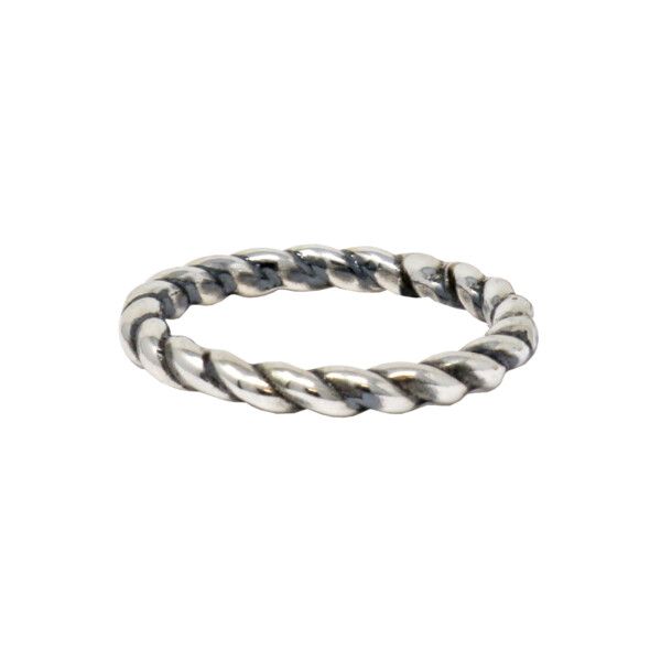 Closeup photo of Sterling Silver Ring - Rope Size 6