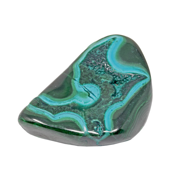 """Closeup photo of Chrysocolla Malachite Freeform Polished - An """"Eye"""" Right In The Heart"""