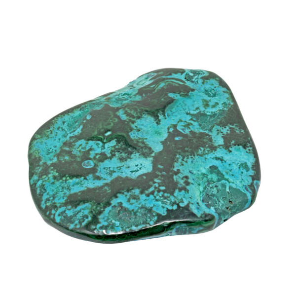 """Closeup photo of Chrysocolla Malachite Freeform Polished - Islands Of Green Intertwined With Blue """"Waters"""""""