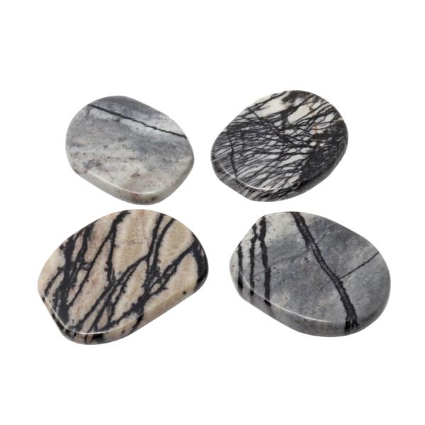 Closeup photo of Zebra Jasper Flat Stone Aka Picasso Jasper (Singles)