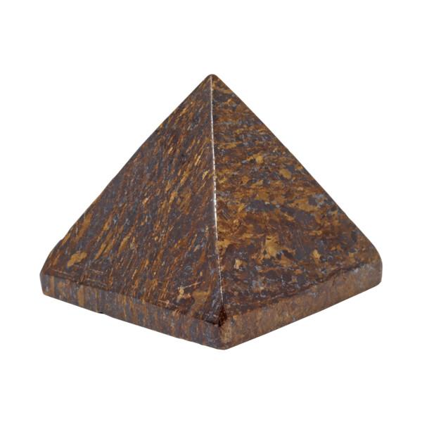 Closeup photo of Bronzite Pyramid - 45mm