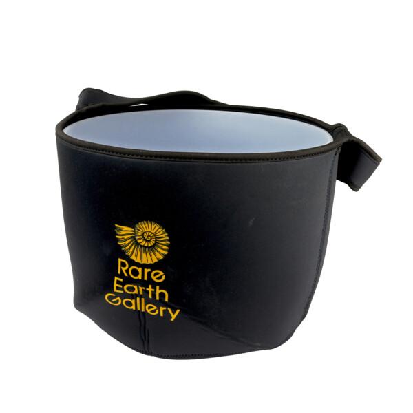 """Closeup photo of Black Branded Liner Bag For 12"""" Crystal Singing Bowl"""