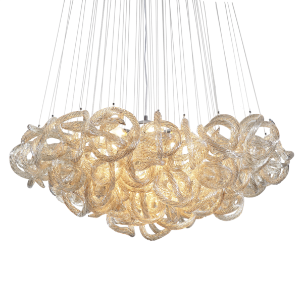 Closeup photo of Large Infinity Knot Chandelier - Champagne