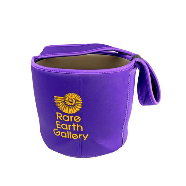 "Closeup photo of Purple Branded Liner Bag For 8"" Crystal Singing Bowl"