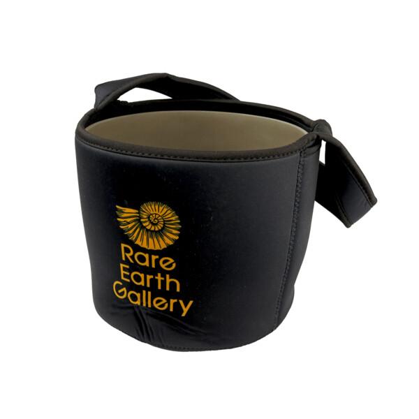 """Closeup photo of Black Branded Liner Bag For 8"""" Crystal Singing Bowl"""