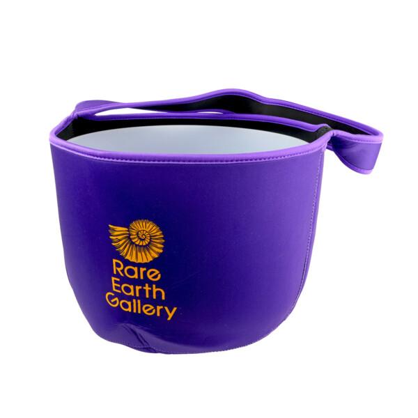 "Closeup photo of Purple Branded Liner Bag Or 12"" Crystal Singing Bowl"