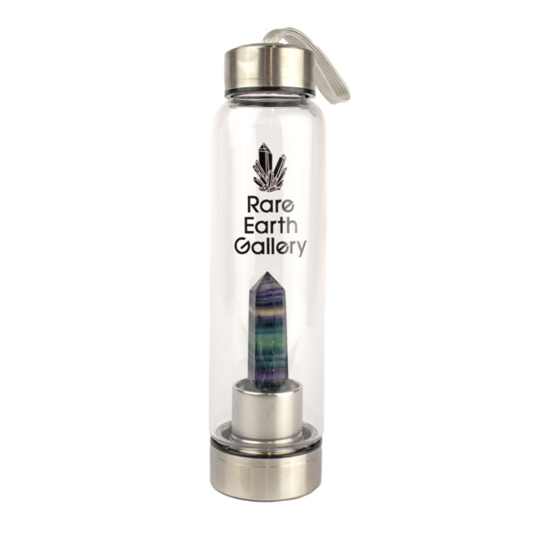 Closeup photo of Fluorite Point Water Bottle With Sleeve