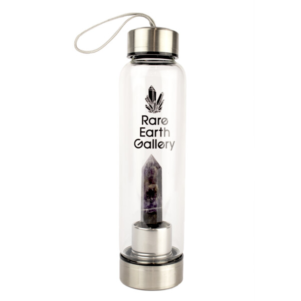 Closeup photo of Amethyst Point Water Bottle With Sleeve