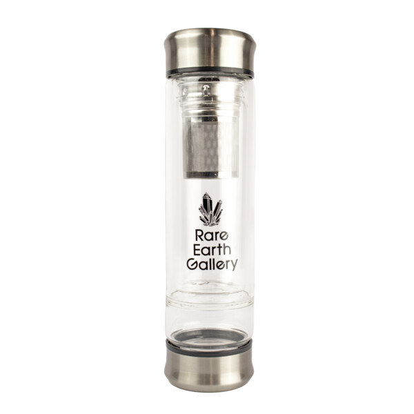 Closeup photo of Branded Water Bottle with Tea Leaf Diffuser Style #10 With Sleeve