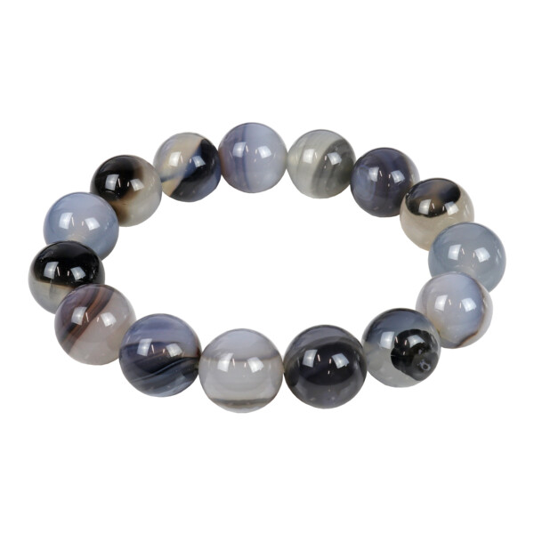 Closeup photo of Agate Bracelet 14mm Round