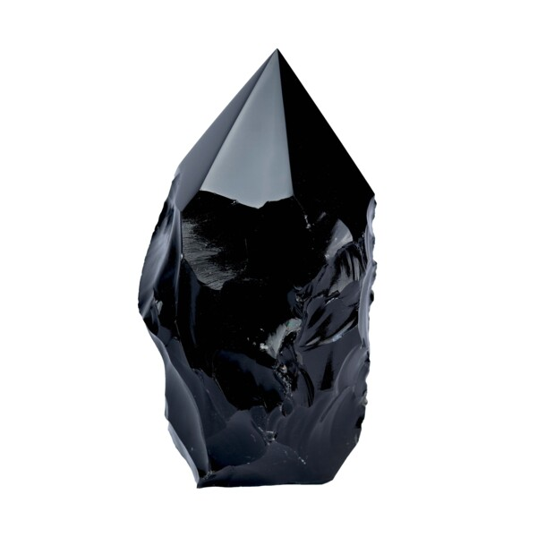 Closeup photo of Obsidian Point - Cut And Polished From Mexico