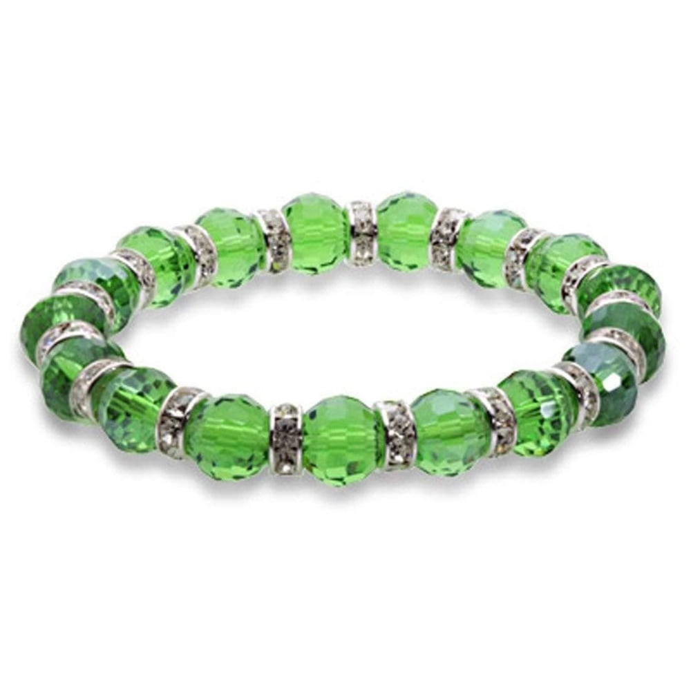 Crystal Bracelet - Dark Peridot Color