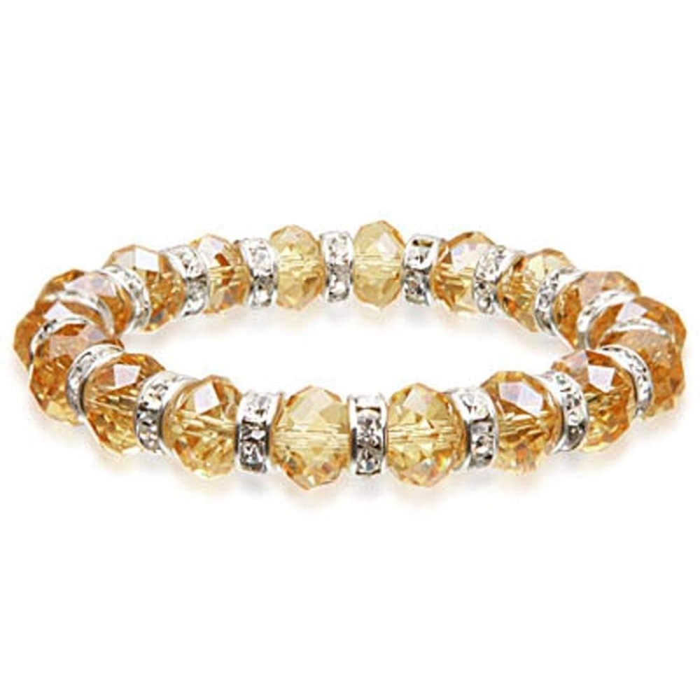 Crystal Bracelet - Green Gold Color