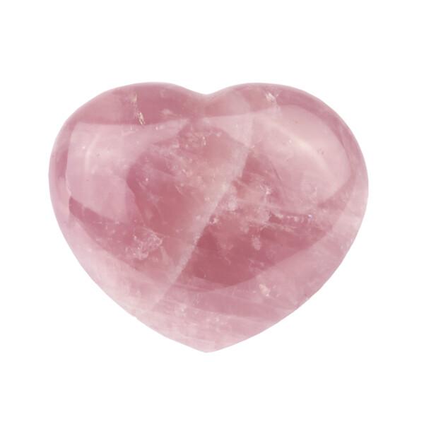 Closeup photo of Rose Quartz Heart