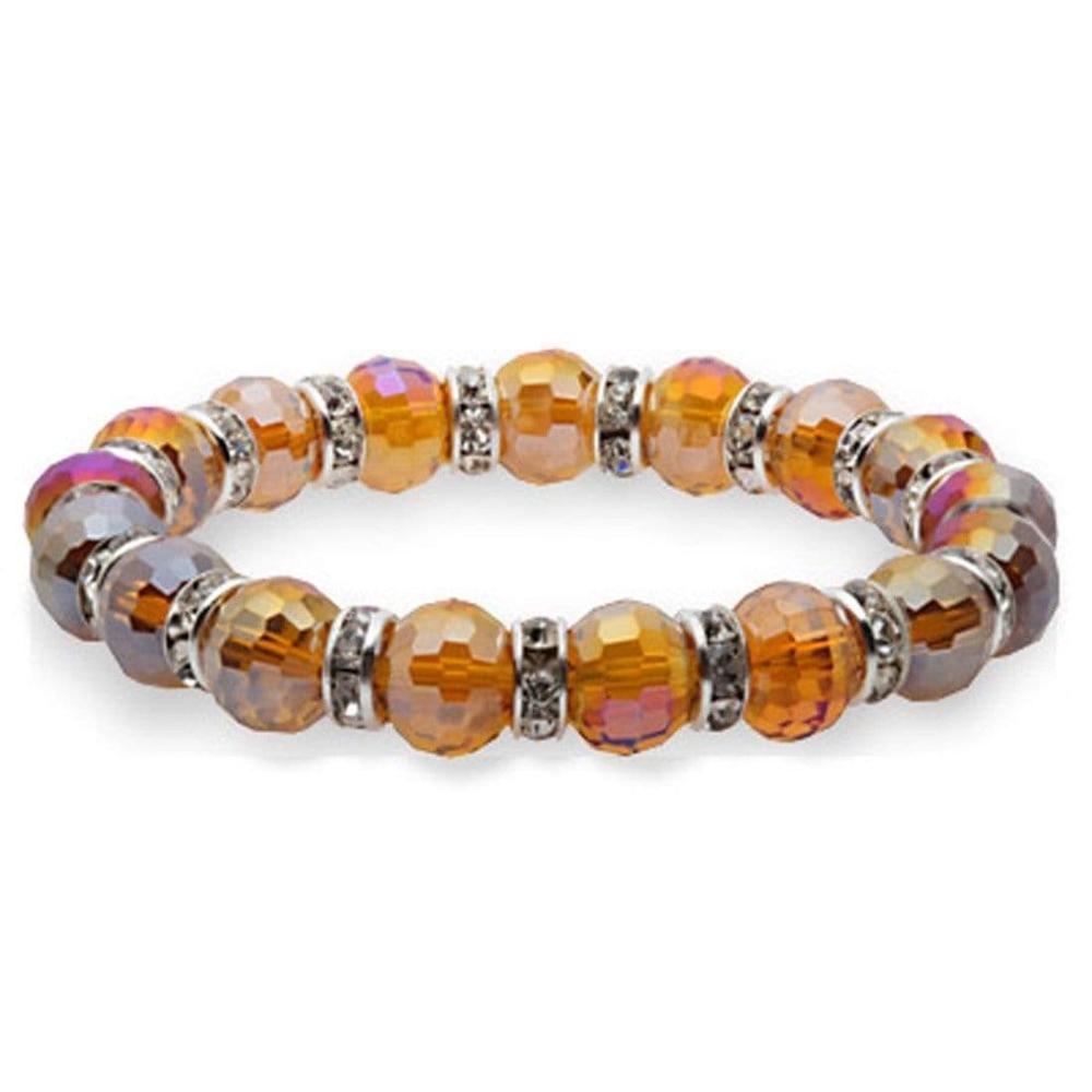 Crystal Bracelet - Light Topaz Color