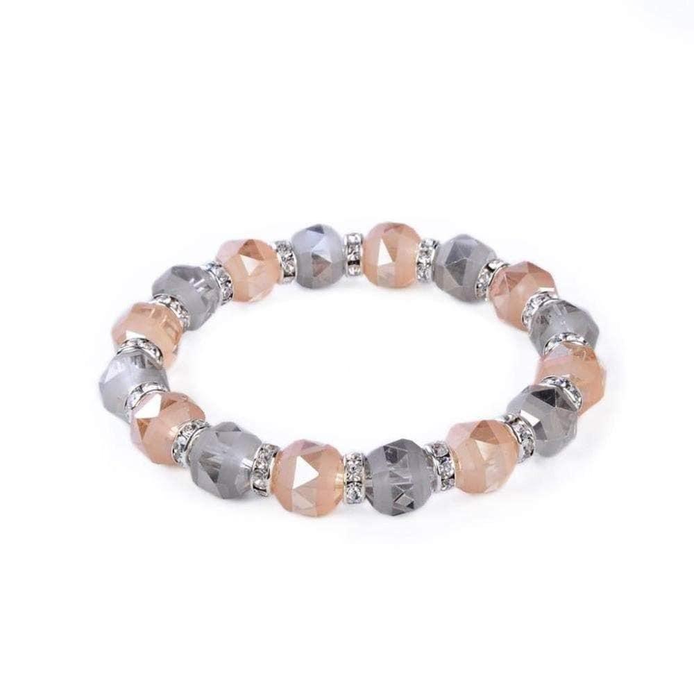 Crystal Bracelet - Greige & Rose