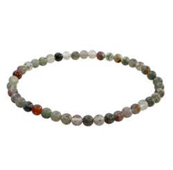 Closeup photo of Bloodstone Bracelet (African Seftonite) 4mm Rounds