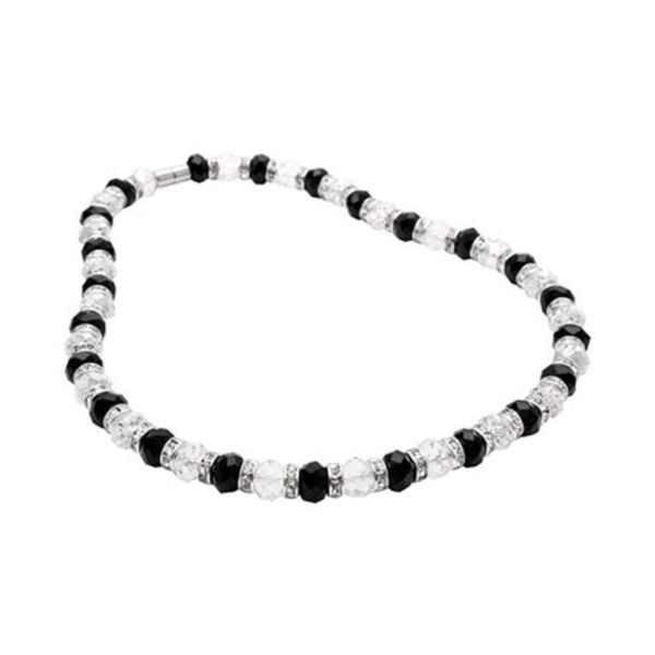 Closeup photo of Crystal Necklace - Clear & Black
