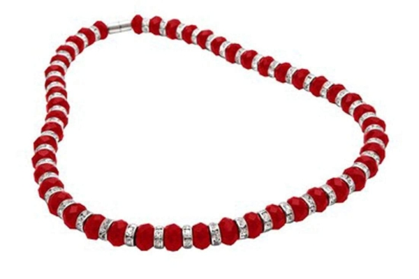 Closeup photo of Crystal Necklace - Red