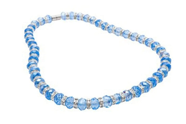Closeup photo of Crystal Necklace - Sapphire Blue Color