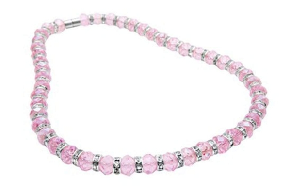 Closeup photo of Crystal Necklace - Rose Pink