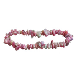 Closeup photo of Pink Tourmaline Chip Bracelet