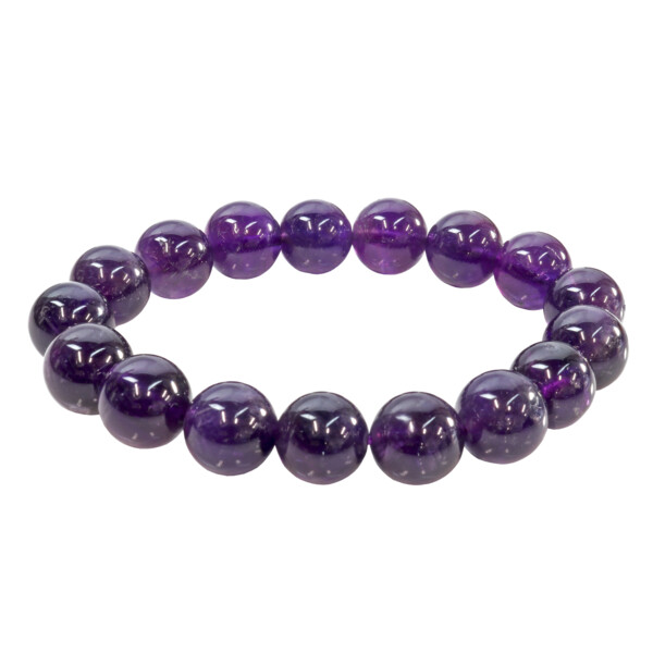 Closeup photo of Amethyst Bracelet A+ Quality 12mm