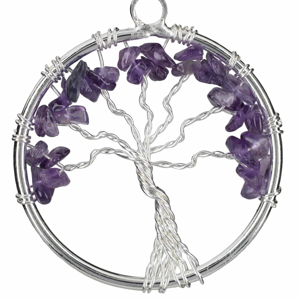 Image 2 for Amethyst Tree Of Life Pendant