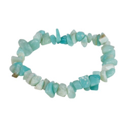 Closeup photo of Amazonite Chip Bracelet