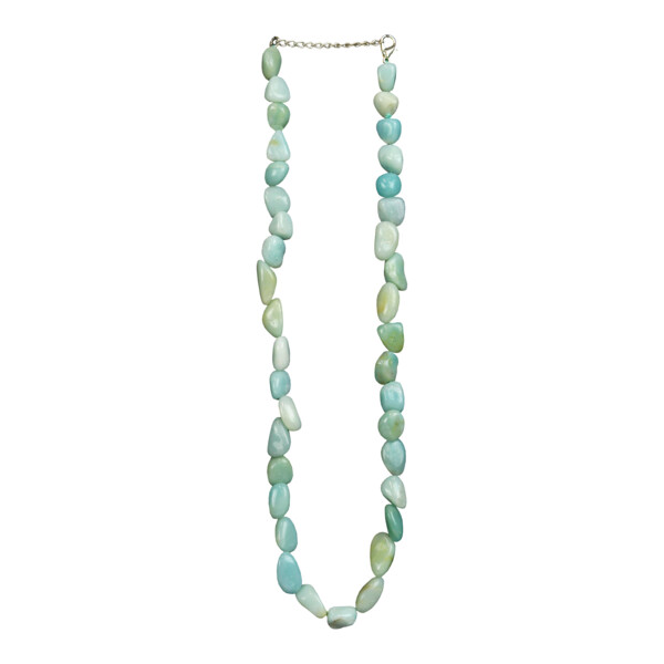 Closeup photo of Amazonite Necklace Tumbled