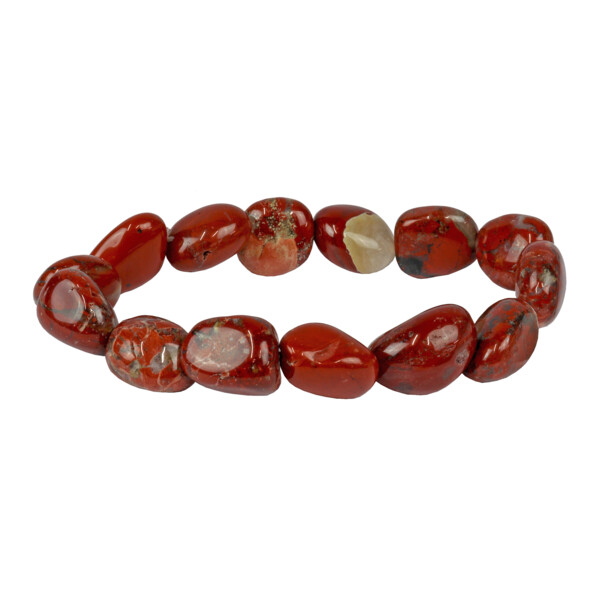Closeup photo of Brecciated Jasper Tumbled Bracelet