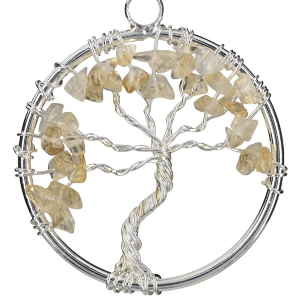 Closeup photo of Citrine Tree Of Life Pendant