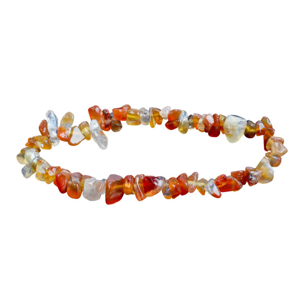 Closeup photo of Carnelian Chip Bracelet