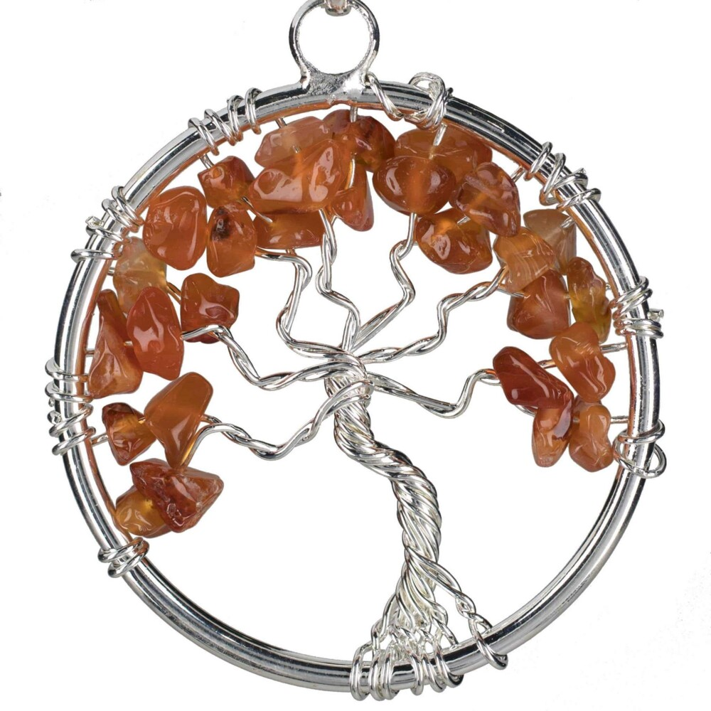 Carnelian Tree Of Life Pendant