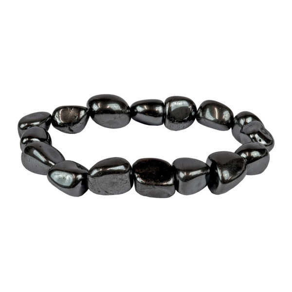 Closeup photo of Hematite Tumbled Bracelet