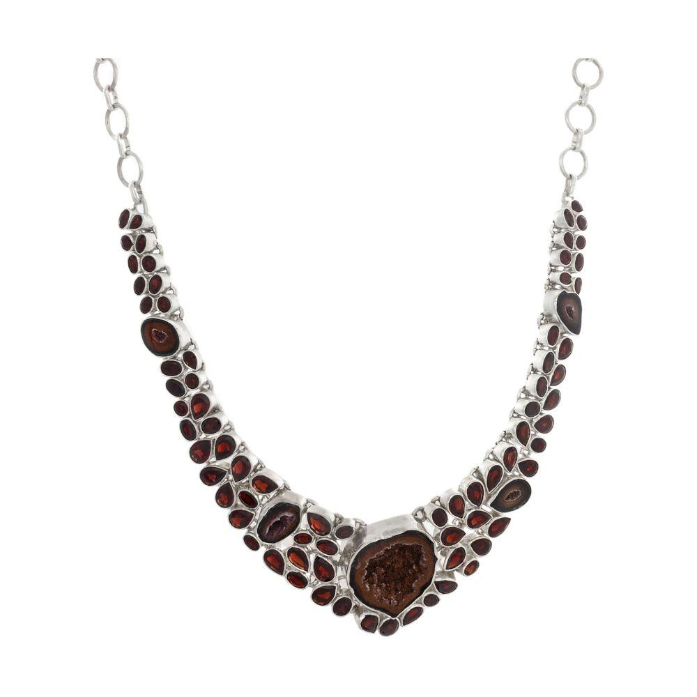 Red Geode & Garnet Necklace