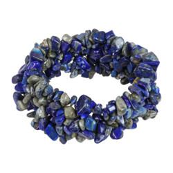 Closeup photo of Lapis Lazuli Woven Bracelet