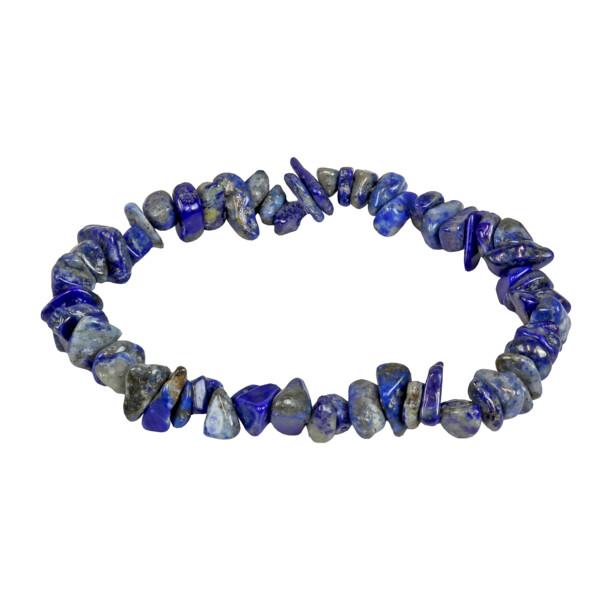 Closeup photo of Lapis Lazuli Chip Bracelet